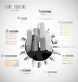 Creative resume template with cityscape vector image vector image