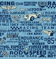 cute speedway racing team elements wallpaper vector image