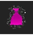 Drawing medical formulas sack vector image vector image