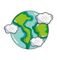 earth world cartoon vector image