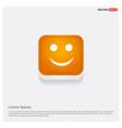 emoji icon orange abstract web button vector image vector image