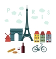Flat stylish for Paris France vector image vector image