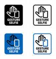 gesture selfie mobile device app information sign vector image vector image
