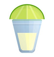 glass lime tequila icon cartoon style vector image vector image