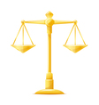 Gold Justice Scales vector image vector image