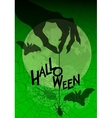 Halloween background with witches hand and spider vector image vector image