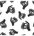 home care icon seamless pattern background hand vector image
