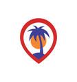 island location logo icon concept vector image vector image