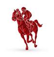 jockey riding horse hose racing vector image vector image