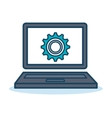laptop gear support solution design isolated vector image