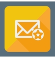 Mail icon simple star Flat design vector image