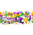 mardi gras party seamless pattern vector image