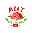 meat best choice 1969 logo template design badge vector image vector image