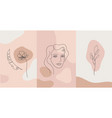minimalist style portrait line flower vector image vector image