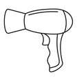 modern hair dryer icon outline style vector image vector image