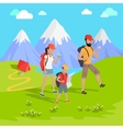 Mountain Tourism Concept vector image