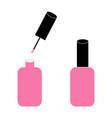 nail icon flat design polish bottle manicure vector image vector image
