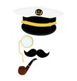 Navy captain symbol vector image vector image