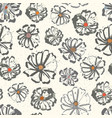 neutral floral seamless pattern with colour vector image
