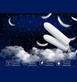 night feminine hygiene tampons advertising vector image