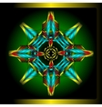 Octagonal star vector image