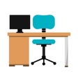 office desk work place vector image vector image