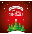 postcard happy holidays merry christmas pine tree vector image vector image