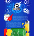 poster for football championship cup vector image