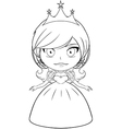 Princess Coloring Page 2 vector image vector image