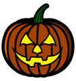 pumpkin with expression vector image