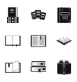 Reading icons set simple style vector image vector image