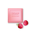 rose soap protection with raspberry aroma vector image vector image