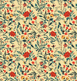 seamless floral pattern with roses and birds vector image