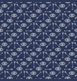seamless pattern design with stars eyes and arrows vector image
