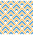 seamless pattern with oblique orange and blue vector image