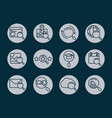 search icons magnifying glass explore web vector image vector image