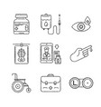 set of medical icons and concepts in sketch style vector image