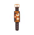 steampunk mechanical wrist watch antique vector image