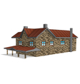 stone farmhouse vector image vector image