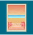 summer beach holiday banner vector image vector image