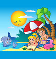 summer theme image 6 vector image