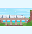 time to travel train concept sea view vector image