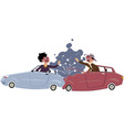 Traffic accident vector image