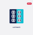 two color ajotomate icon from culture concept vector image vector image
