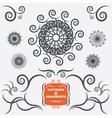 Vintage geometric ornaments Decorative design vector image vector image