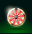 wheel of fortune 3d object isolated vector image