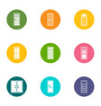 wicket icons set flat style vector image vector image
