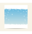 Winter blue banner template background with vector image vector image