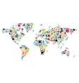world map made icons vector image vector image