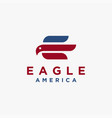 abstract e letter for eagle logo icon template vector image vector image